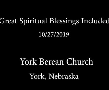 Great Spiritual Blessings Included