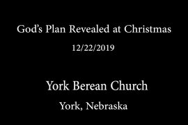 God's Plan Revealed at Christmas