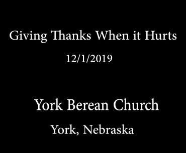 Giving Thanks When it Hurts