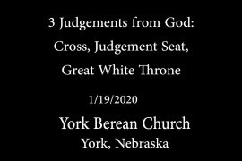 3 Judgements of God