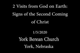 Signs of Second Coming of Christ