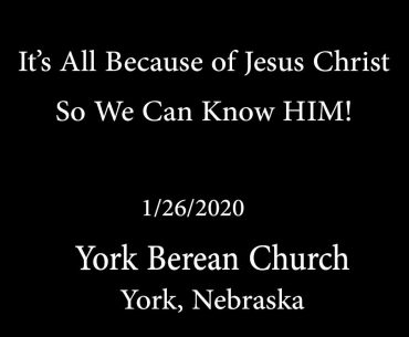 It's All Because of Jesus Christ!