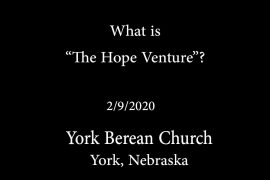 What is The Hope Venture?