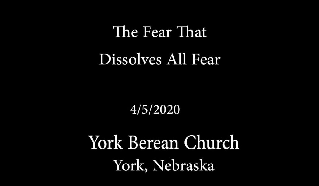 The Fear that Dissolves All Fear