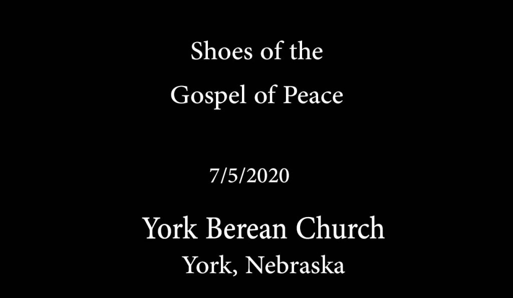 Shoes of the Gospel of Peace