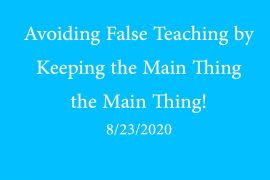 Avoiding False Teaching