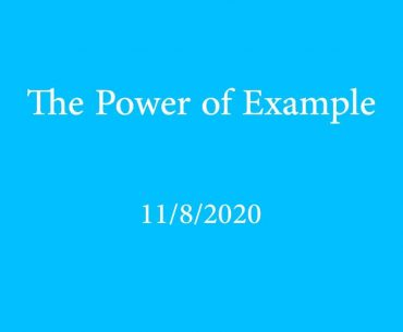 The Power of Example