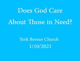 Does God Care About Those in Need?
