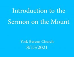 Introduction to the Sermon on the Mount