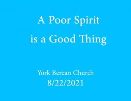 A Poor Spirit is a Good Thing